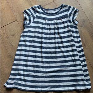 Crewcuts Navy & White Striped Dress